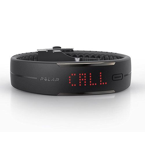 Polar loop 2 activity tracker showing a call on its lcd screen