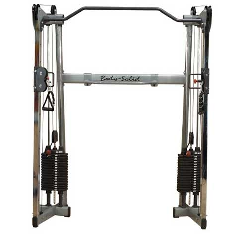 Body solid cable cross training center gym machine