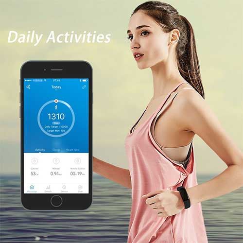 Daily fitness tracking - letscom ad featuring a woman and an IOS phone