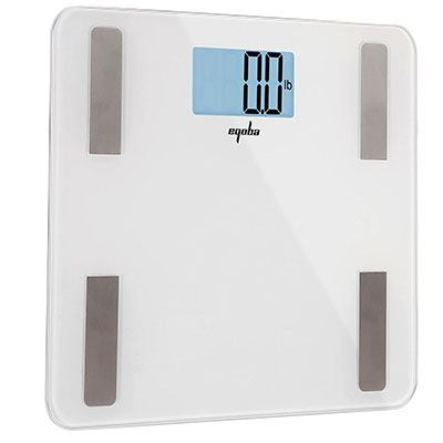 Eqoba smart body fat scale displaying no weight on its lcd screen