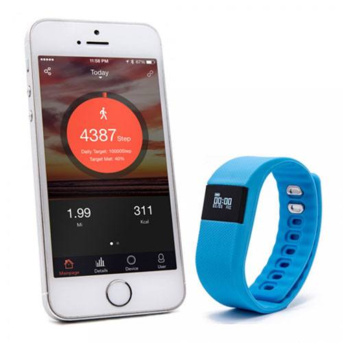 Blueweigh fitness tracker next to a smartphone