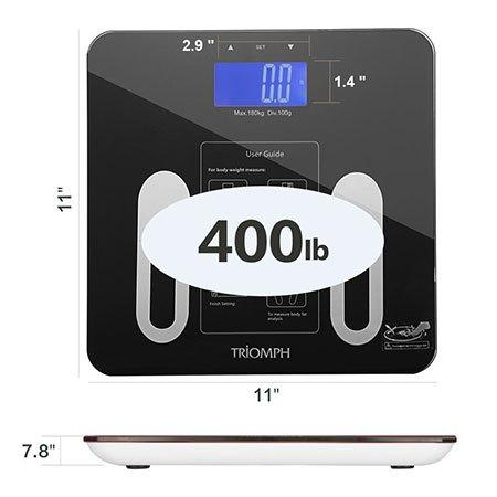 maximum supported weight for the triomph smart scale