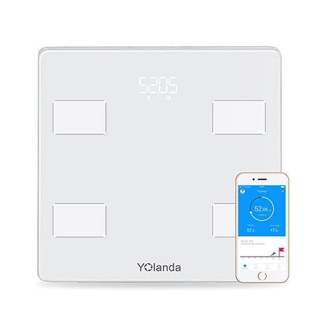 Yolanda smart body fat scale as seen from the top